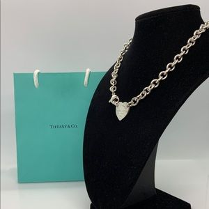 """Please Return to Tiffany & Co. Heart Necklace 15"""""""